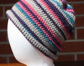 Wool striped beanie