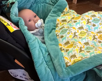 Soft baby blanket with cute animals