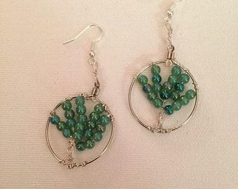 Tree of Life beaded earrings