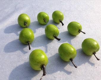 Mini Apples Green Set Of 9 Fairy Garden Apples Terrarium Green