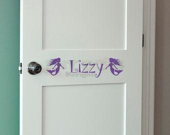 Kids Personalized Name Decal, Mermaid Decoration, Kids Name Sticker, Kids Door Letters, Vinyl Door Decal, Mermaid Door Sign, Vinyl Name