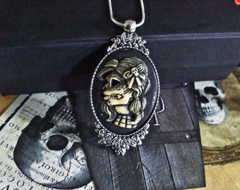Doll Skull Cameo Necklace