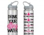 Motivational Water Bottle,Water Tracking Bottle, Drink Your Effing Water, Water Bottle, Personalized Water Bottle,