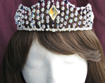 Crystal Tiara, Quinceanera, Wedding Crown, Medieval, Renaissance, Diadem, Queen Crown, Costume, Bridal Crown, Anastasia, Cosplay,
