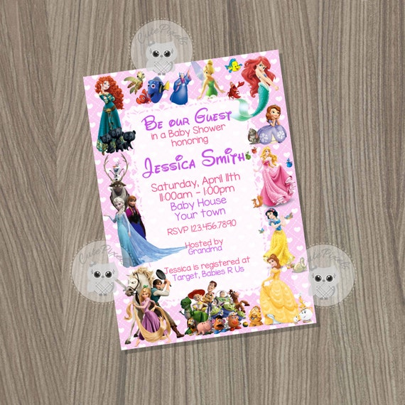 disney baby shower baby girl shower invitation baby shower baby