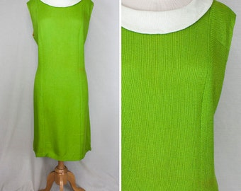Off to Neverland Green Shift Dress | 1960s | Women's L