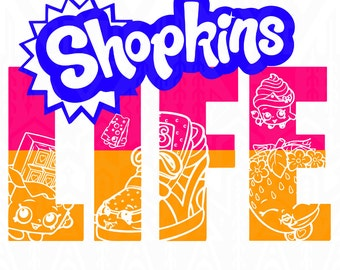 Shopkins svg ,Shopkins design,Shopkins ,Shopkins vector ,Shopkins Life  SVG Design Silhouette Studio Software
