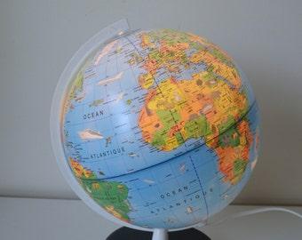 Globe, world map, vintage, 70s