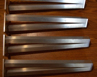 The BEST Aluminum Metal Table Legs, V-Leg, SET OF 4 V Legs, Unfinished, stronger than hairpin legs