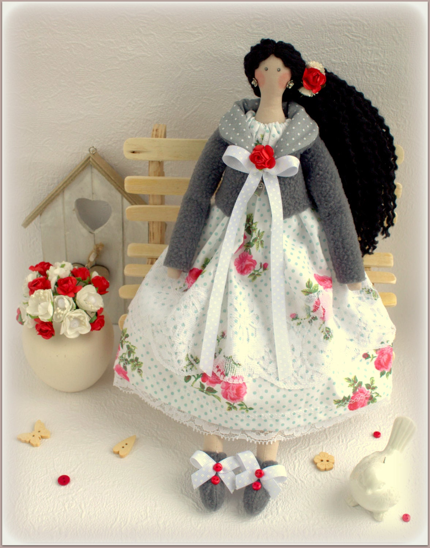 Home Interior Angel Figurines Tilda Doll Luisa Fabric Doll Cloth Doll Rag Doll Stuffed