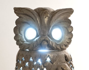 OWL lamp MADE IN ITALY-wood lamp