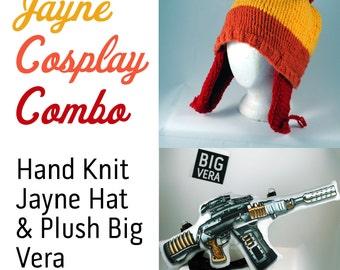 Hat & Plush Gun Cosplay Combo: Firefly Jayne hat and BIG VERA plush  for Jayne Cobb Cosplay!