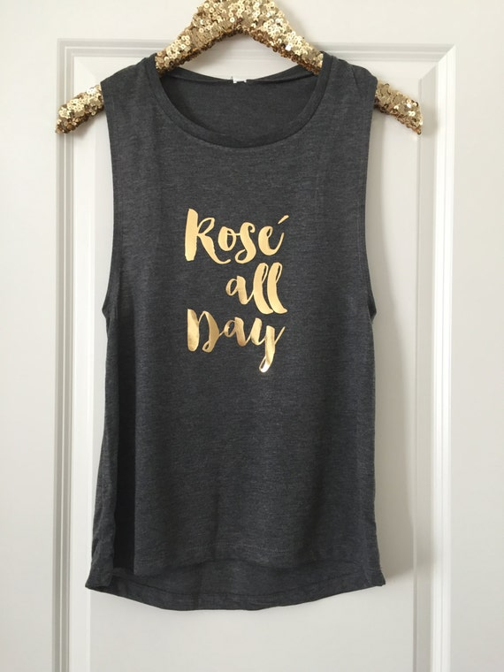 Rose All Day Muscle Tank