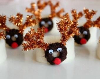 Christmas Napkin Ring, White Napkin Rings, Funny Napkin Rings, Christmas  Party Supplies,