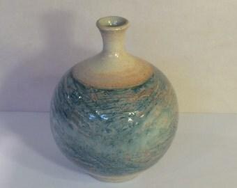 Porcelain handmade ceramic vase