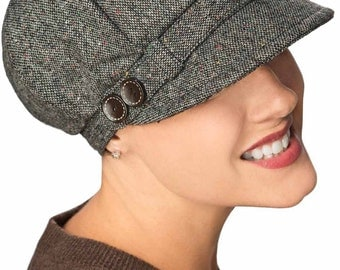 Sawyer Newsboy Hat - Winter Hat for Women - Cancer Patients, Hair Loss, Chemo