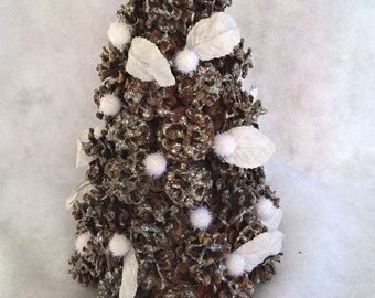 fuzzy snowball pine cone Christmas tree