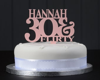Personalised 30 & Flirty Cake Topper