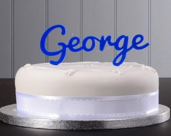 Small Personalised Name Cake Topper