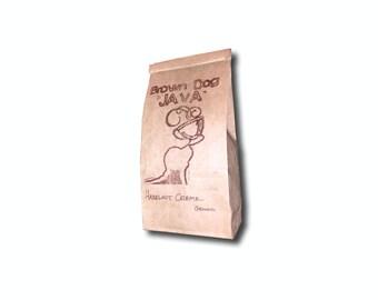 100% natural Hazelnut Creme flavored coffee