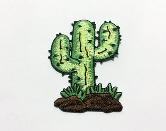 Cactus Iron on Patch(L1) - Cactus Applique Embroidered Iron on Patch Size 6.0x8.1 cm