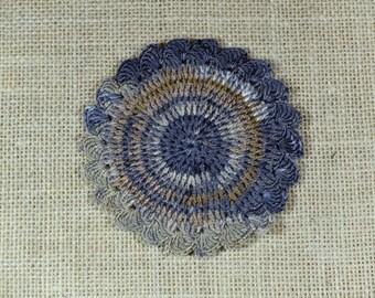 Gray Crochet Coasters - set of 5