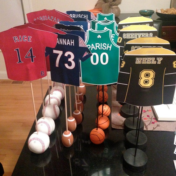 Soccer Themed Wedding Ideas: Boston Sports Themed Table Numbers