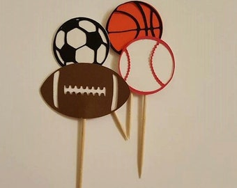 Sports Theme Cupcake Toppers