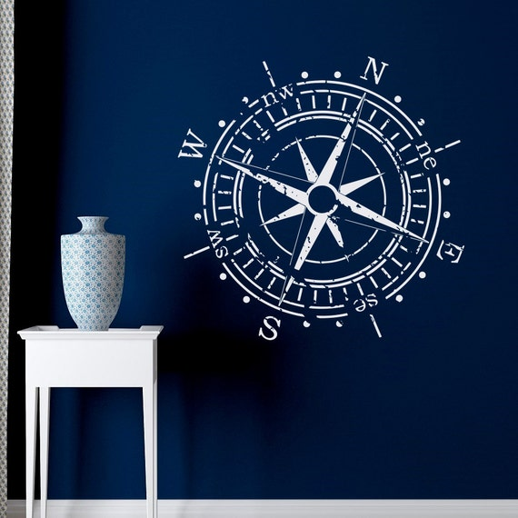 Wall Art Stickers East Rand : Compass rose wall decal vinyl sticker north south west