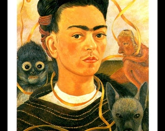 Frida Kahlo, Frida Kahlo Poster, Frida Kahlo Print, Frida Kahlo Painting,  Frida, Frida Print, Professionally Matted 8 x 10