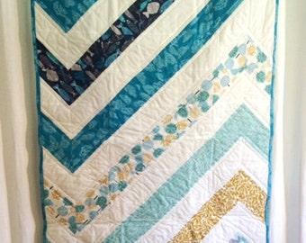 Organic Baby Quilt, Modern Organic Quilt, Baby Quilt, Organic Quilt