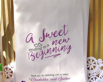Wedding Candy Bags (24 BAGS) - Wedding Favor Bags - Treat Bags - Wedding Favors - Love is Sweet CB03xa