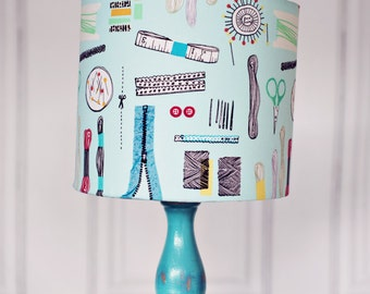 Sewing room, sewing accessories, lampshade, sewing gift, mothers day gift, sewing gifts, craft room, gift for mum, sewing room décor, Lamps