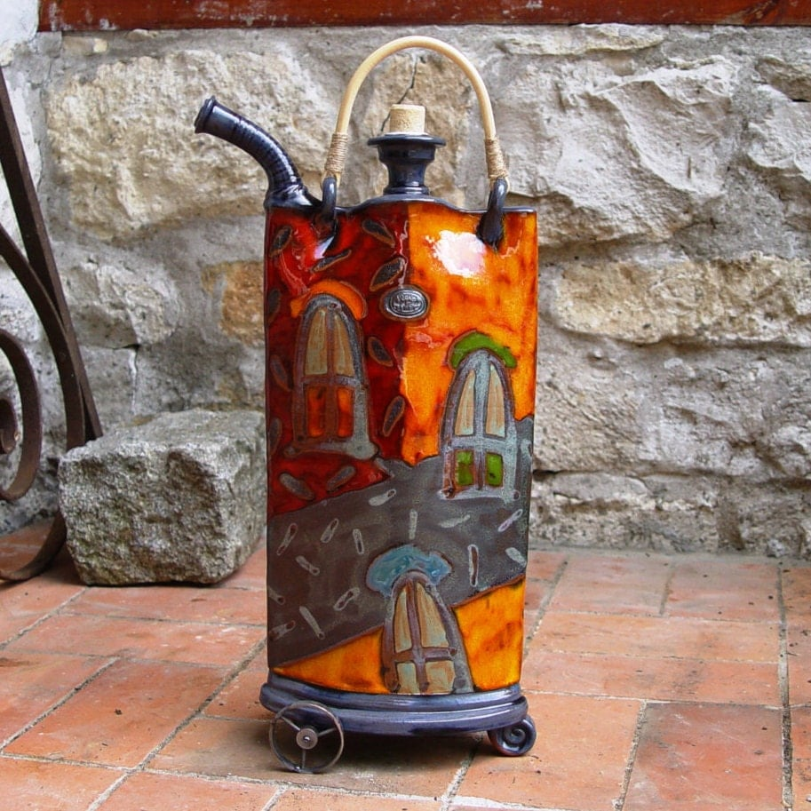 Iron Wedding Anniversary Gift: Colorful Ceramic Vessel Iron Anniversary Gift Decorative