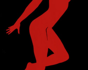 Sarah Scotchman - Rita Red -Part of the Bond Girl Series - Acrylic on Box Canvas 60 x 120cm