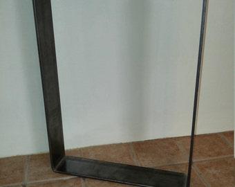 3 inch U shape dining table flat bar bent steel metal coffee table legs