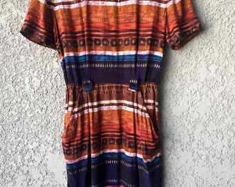 Tribal print Positive attitude dress