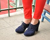 Barbican - Oxford Pumps, Womens Oxfords, Womens Leather Shoes, Heeled Oxfords, Chic Shoes, Custom Shoes, FREE customization!!!