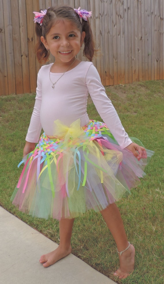 skirt tutu little rainbown ballet dancewear - tutu arcoiris pastel ropa para ballet