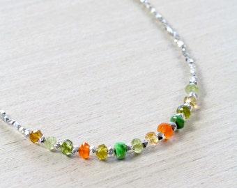 Karen Silver Sunshine Necklace