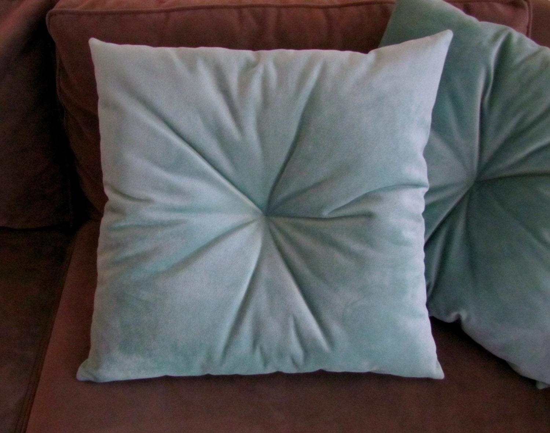 Tufted Velvet Pillow Velvet Throw Pillow Tufted Accent