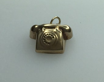9ct Gold Hollow Telephone Charm