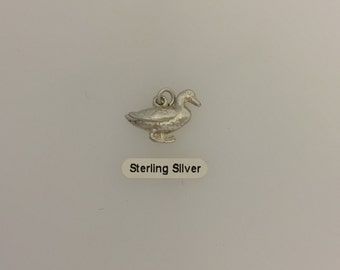 Sterling Silver Duck Charm