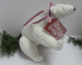 Polar bear with CHRISTMAS GREETINGS