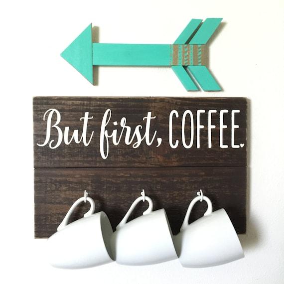 Mug Holder Coffee Cup Holder Mug Rack Kitchen Art Kitchen Decor