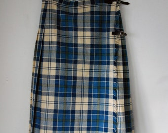 Vintage Laird-Portch Plaid Pleated Wool Skirt