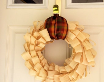 Fall Cornhusk Wreath