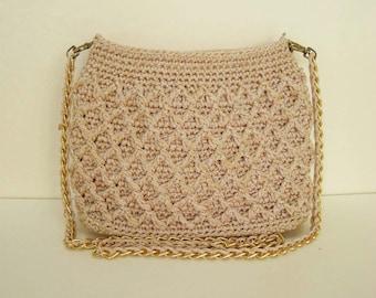 Light Brown Crochet Handle bags Light Brown Handbag Brown Handbag Brown Purse Brown Tote Brown Handbag Brown Luxury Handbags (N59)