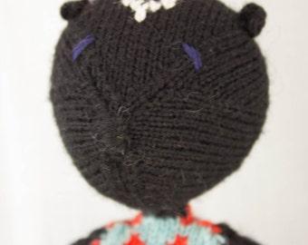 Skunk Knit Wool Doll