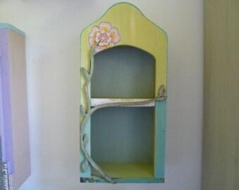summertime curio shelf